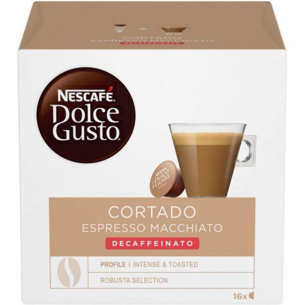 nescafe dolce gusto cortado decaffeinato
